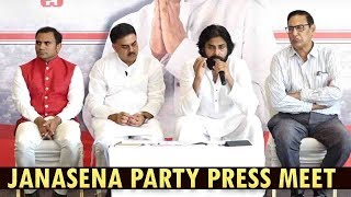 JanaSena Party Press Meet on Titli Cyclone | Visakhapatnam | Pawan Kalyan