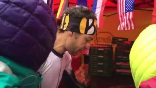HK100 Ultra Trail 2016 - Yeray Duran Lopez at checkpoint 8