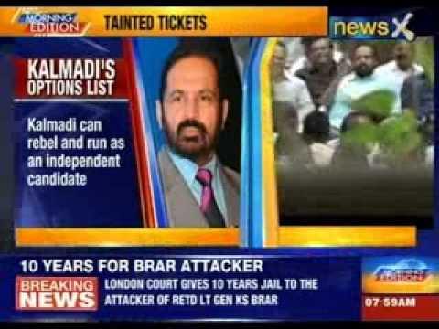 Suresh Kalmadi upset over not being given congress ticket