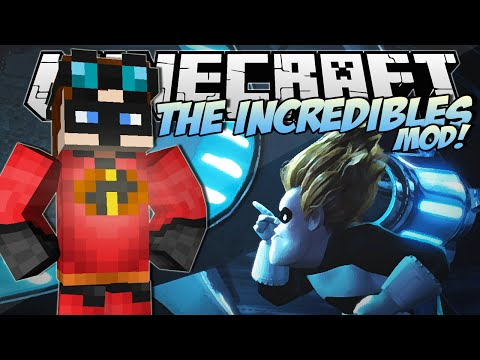 Minecraft | THE INCREDIBLES MOD! (Become an Incredible & Frozone!) | Mod Showcase