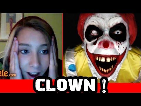 Creepy Clown Scare on Omegle Prank!