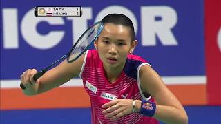 Danisa Denmark Open 2017 | Badminton SF M3-WS | Tai Tzu Ying vs Ratchanok Intanon by : BadmintonWorld.tv