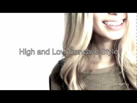 Dry Hair Cut by Mika Fowler / High and Low Concave Style