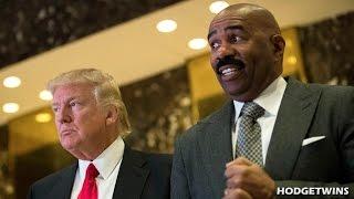 Black People Pissed Off Steve Harvey Met Donald Trump @Hodgetwins