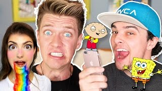 Pranking YOUTUBERS with iPhone 7 CARTOON Voice Impressions Musical Song Lyrics | Collins Key