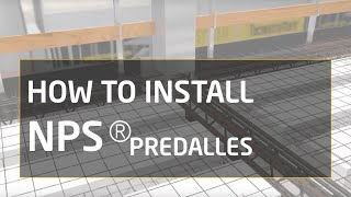 How to install NPS® Predalles: column, beam and Predalles Slab