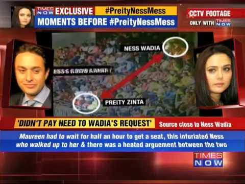 CCTV footage: Moments before Preity-Ness alleged fight