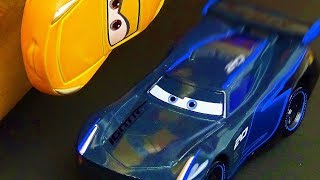 Disney Cars 3 Toys  TOMICA's  Story .  Stop Motion Movie For Kids. Lightning McQueen Jackson Storm