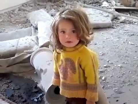 Little Syrian Baby Girl Witnesses The Destruction Of Her