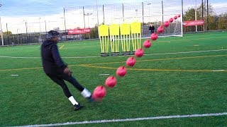 "INSANE FREEKICKS!!! YOUTUBER ""BEAT THE WALL"" CHALLENGE!!!"