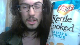 ASMR salt and vinegar chips