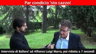 Intervista di Ballaro' ad Alfonso Luigi Marra, poi ridotta a 7 secondi