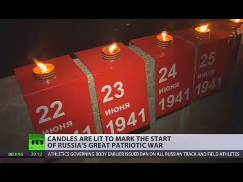 1418 candles lit: Russia commemorates 75th anniversary of Nazi invasion of Soviet Union