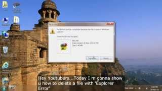 [Solution]:-The action can't be completed because the file is open in Windows Explorer