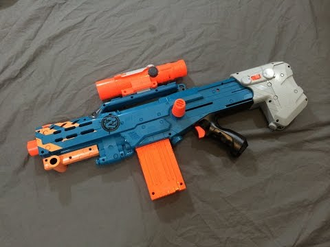 [REVIEW] Nerf Zombie Strike Longshot CS-12 Unboxing. Review. & Firing Test