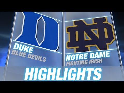 Duke Vs Notre Dame | 2014-15 Acc Men's Basketball Highlights video
