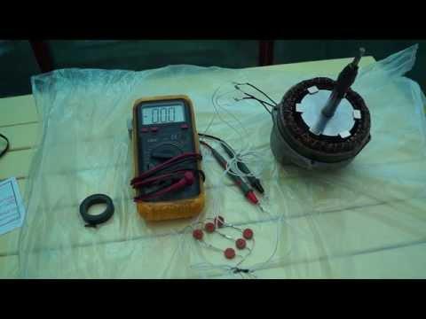 Перемотан статор генератора. Холостой ход. Самодельный генератор ветряка ТЕСТ 1 и 2