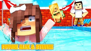 Minecraft ALEX'S BABY DAUGHTER DROWNS - WHO PUSHED HER INTO THE POOL?