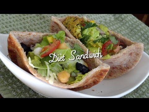 Healthy Sandwich Recipes & Tips... Eating Well by Bhavna - Falafel Beans Diet