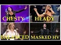 Chesty/Heady/Balanced Mix/Masked Placed Head Voice Differences - Famous Singers