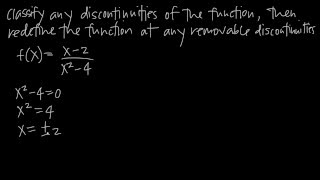 How to find REMOVABLE DISCONTINUITIES (KristaKingMath)