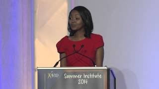 Inspiring speech by Ethiopian student Rahel Bogale at AVID Philadelphia Summer Institute 2014