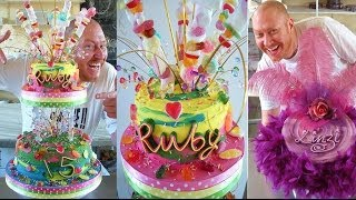 CAKE DECORATING DESIGNS - COMMERCIAL CELEBRATION CAKE IDEAS WITH ROYAL ICING & FONDANT