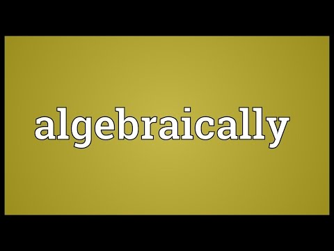 Header of Algebraically