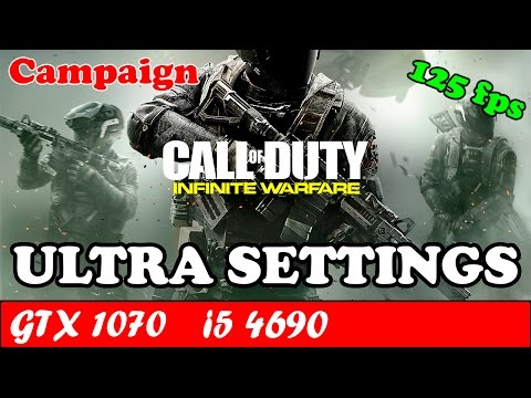 Call of Duty Infinite Warfare (Ultra Settings) | GTX 1070 + i5 4690 [1080p 60fps]