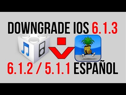 Downgrade iOS 6.1.3 a 6.1.2 / 5.1.1 iPhone 3GS. 4. iPod Touch 4 (FÁCIL)   Español