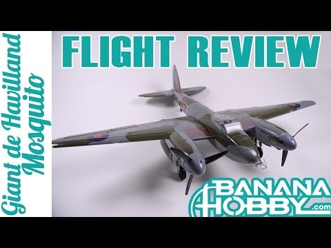 Giant de Havilland Mosquito FreeWing   Flight Review   Warbird & Military