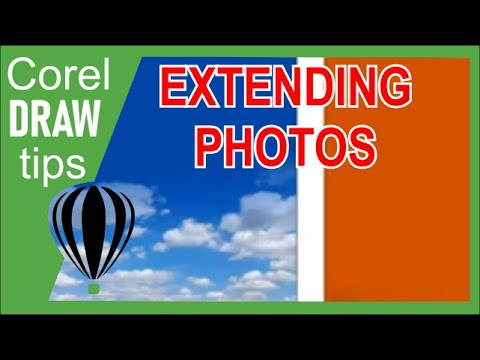 Extending a photo in Coreldraw