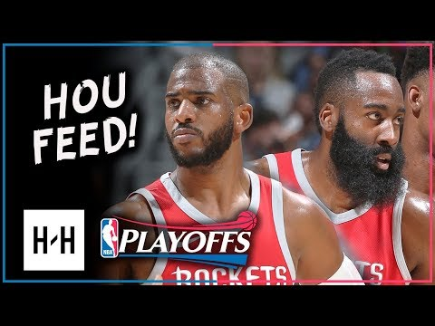 James Harden & Chris Paul Full Game 4 Highlights vs Timberwolves 2018 Playoffs - 61 Pts Total
