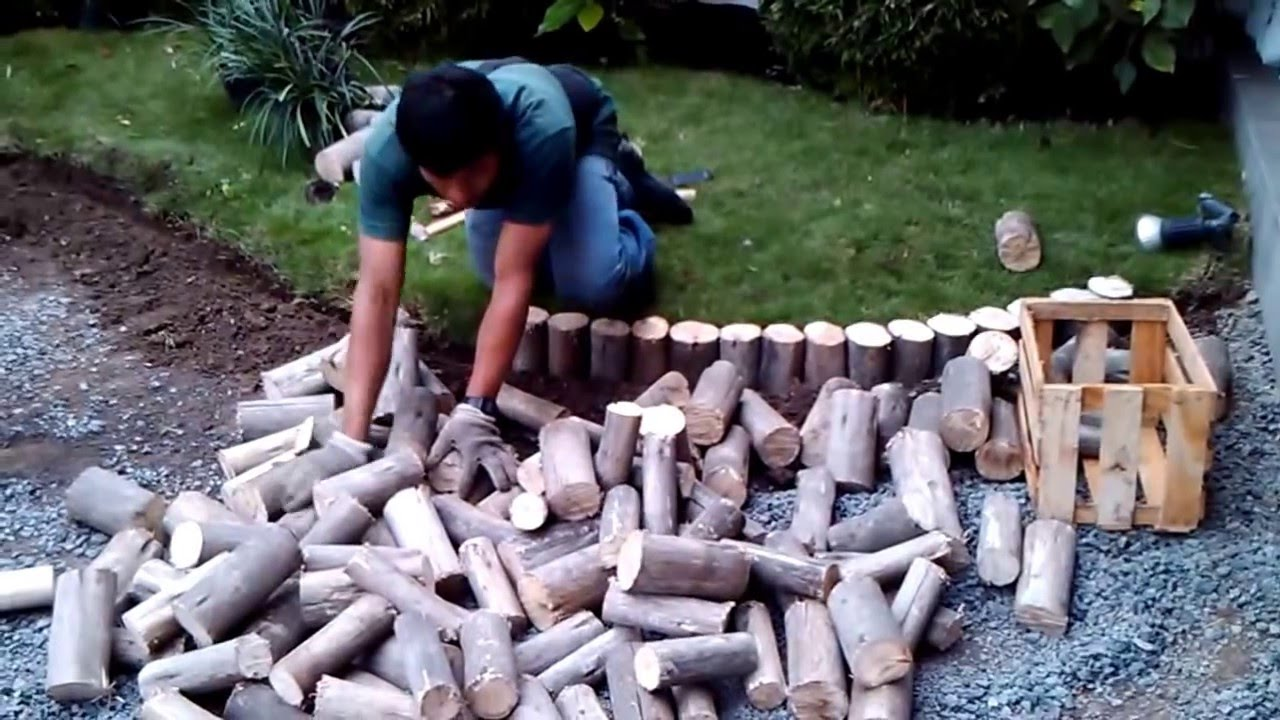 Como instalar un jard n con piedras decorativas youtube for Como poner piedras en el suelo del jardin