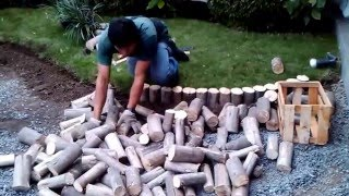 como instalar un jardín  con piedras decorativas