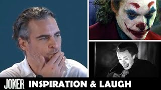 Joaquin Phoenix Talks About Joker Movie Inspiration & Laugh