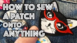 How to Sew a Patch Onto Anything | Sew Anastasia