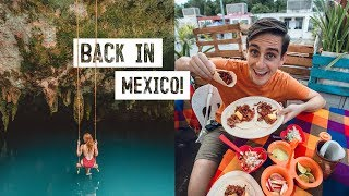 We Missed Mexico! DELICIOUS Local Street Food & Hidden Cenote! - Puerto Morelos