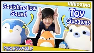 Squishy Marshmallow Stuffed Animals Toy Giveaway Opening Squishies Surprise Eggs