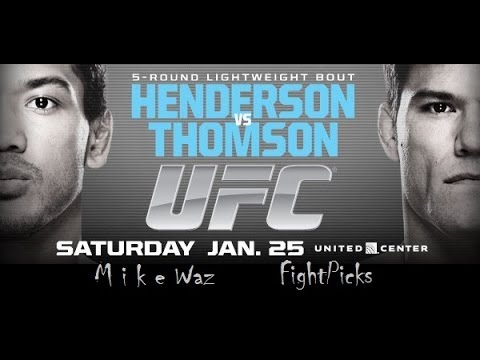 UFC on FOX 10 Benson Henderson vs Josh Thomson Predictions