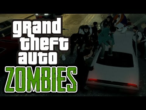 Gta 4: Zombie Apocalypse! - (zombies Mod Funny Moments) video