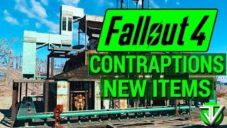 FALLOUT 4: New CONTRAPTIONS WORKSHOP DLC New Items Overview! (Fireworks, Ball Tracks, and Elevators)