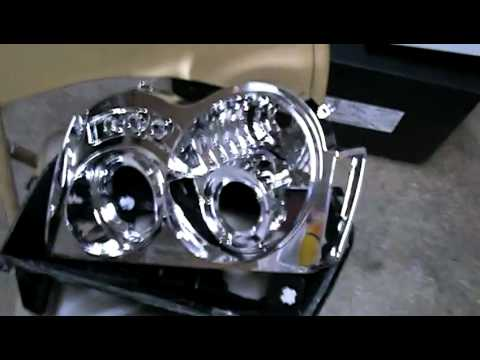 How to make 2005 jeep grand cherokee limited custom projector headlights ( shark eyes )