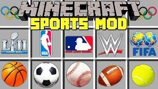 Minecraft SPORTS MOD l NBA FINALS, Basketball, Football, & More! l Modded Mini-Game