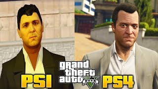 ¿Como Se Veria GTA 5 En la PS1?