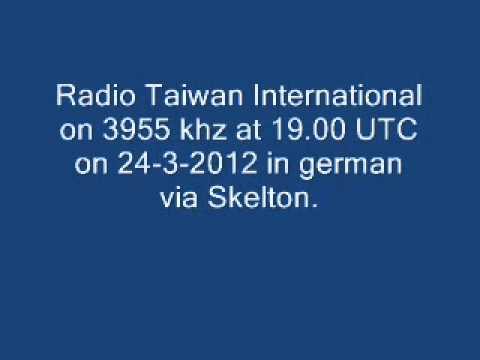 Radio Taiwan International on 3955 khz via Skelton at 19.00 UTC on 24-3-2012 in german