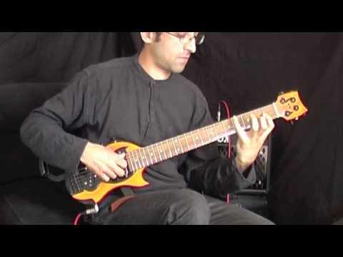 Démonstration Son Clair Tour bus guitare (guitare de voyage) Sébastien Gavet