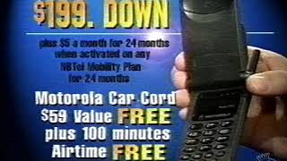 Sounds Fanastic Motorola StarTac Cell Phone Commercial 1998 (New Brunswick)