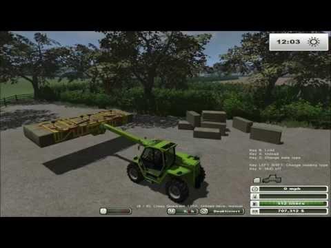Farming Simulator 2013: Orchard Farm Bale Stacking   Merlo Turbofarmer Review