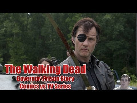 The Walking Dead Governor and Prison Story Arc - TV Series vs Comic Book Series!